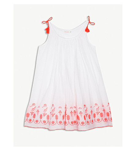 BILLIE BLUSH Floral embroidered cotton dress 4-12 years (Unique