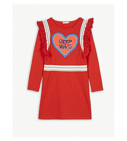 BILLIE BLUSH Good vibes cotton-blend dress 4-12 years (Red