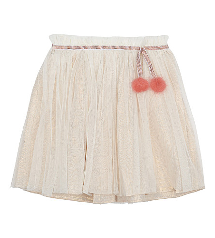 BILLIE BLUSH Cotton pom pom skirt 4-12 years (Pale+pink