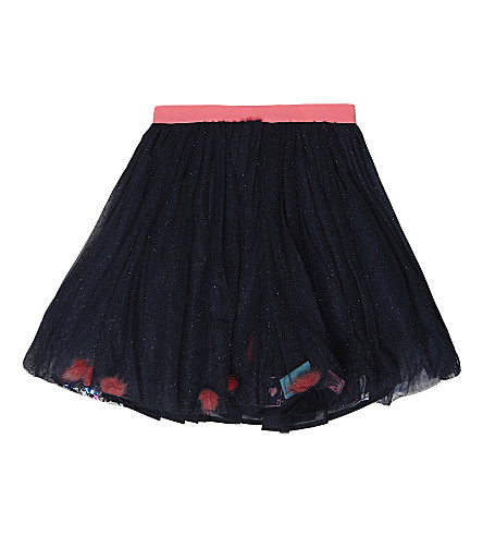 BILLIE BLUSH Glitter mesh skirt 4-12 years (Navy