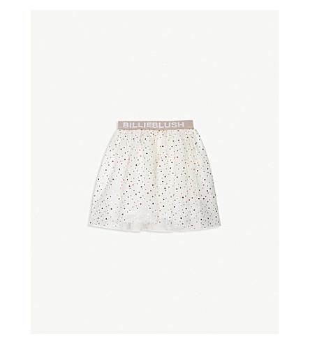 BILLIE BLUSH Glitter polka-dot mesh tutu skirt 4-12 years (Ivory