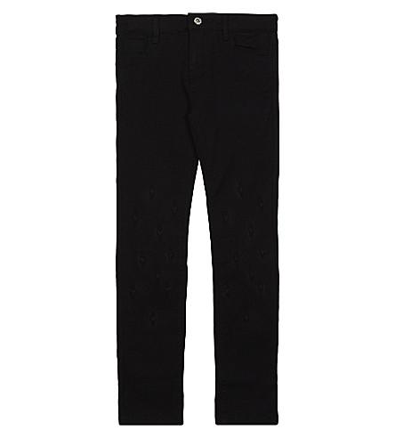 BILLIE BLUSH Pompom decoration cotton trousers 4-12 years (Black