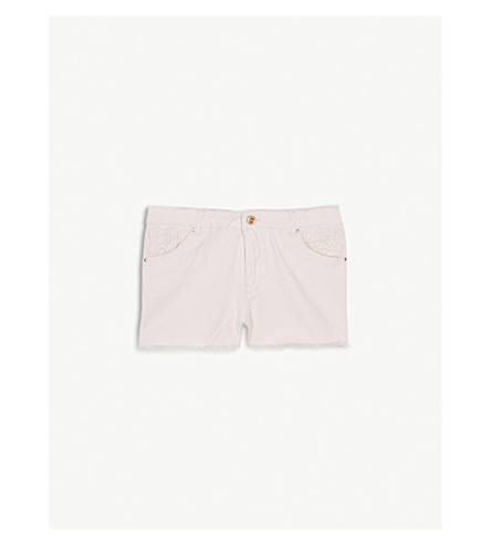 BILLIE BLUSH Embroidered cotton shorts 4-12 years (Baby+pink