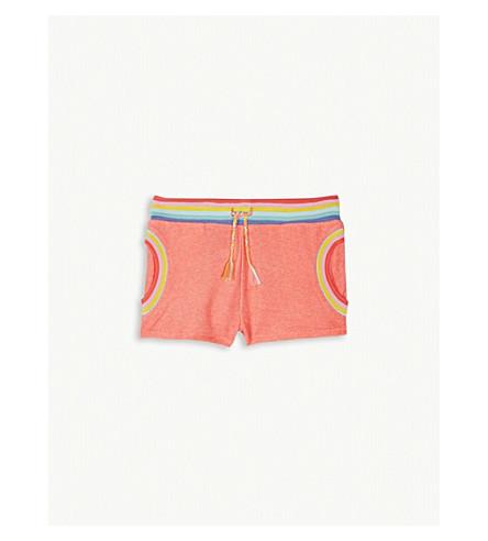 BILLIE BLUSH Knitted rainbow shorts 4-12 years (Fuschia