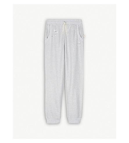 BILLIE BLUSH Metallic bead cotton-blend jogging bottoms 4-12 yeara (Silver