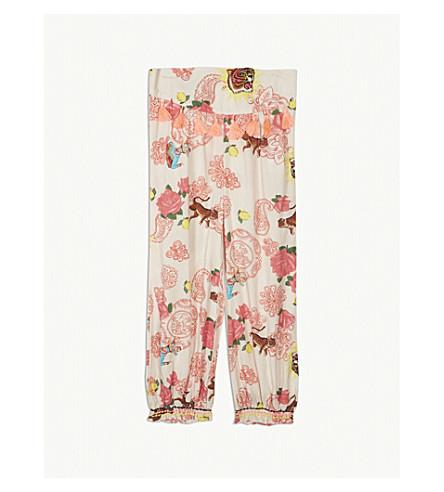 BILLIE BLUSH Floral tiger print harem trousers 4-12 years (Unique