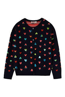 BILLIE BLUSH Sequin hearts cardigan 4-12 years