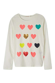 BILLIE BLUSH Sequin hearts top 4-12 years