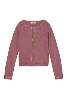 BILLIE BLUSH Openwork knitted cardigan 4-12 years