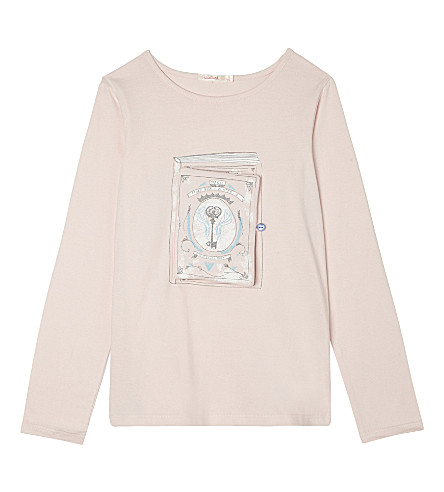 BILLIE BLUSH Book cotton t-shirt 4-12 years (Pale+pink