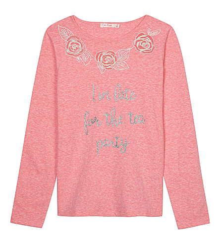 BILLIE BLUSH Late For The Party cotton long-sleeved top 4-12 years (Pink
