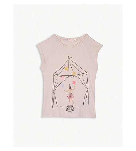 BILLIE BLUSH Glitter print cotton T-shirt and decorative bunting set 4-12 years (Ice+pink