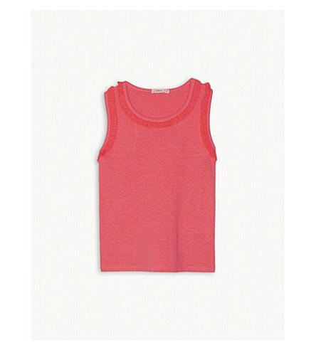 BILLIE BLUSH Frill neckline vest 4-12 years (Fuschia