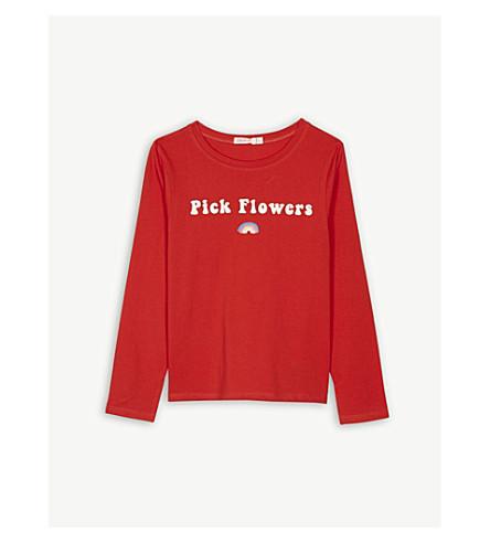 BILLIE BLUSH 挑选花卉棉 T 恤 4-12 岁 (红色