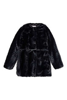BILLIE BLUSH Faux-fur coat 4-12 years
