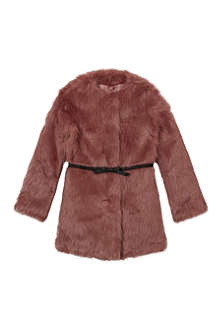 BILLIE BLUSH Faux fur long coat 4-12 years