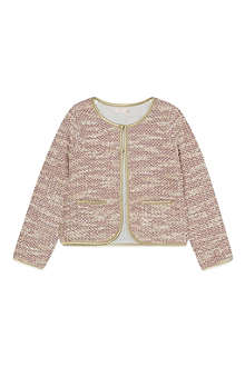 BILLIE BLUSH Knitted tweed cardigan 4-12 years