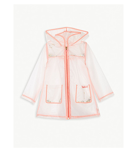 BILLIE BLUSH Sequin-filled transparent raincoat 4-12 years (Unique