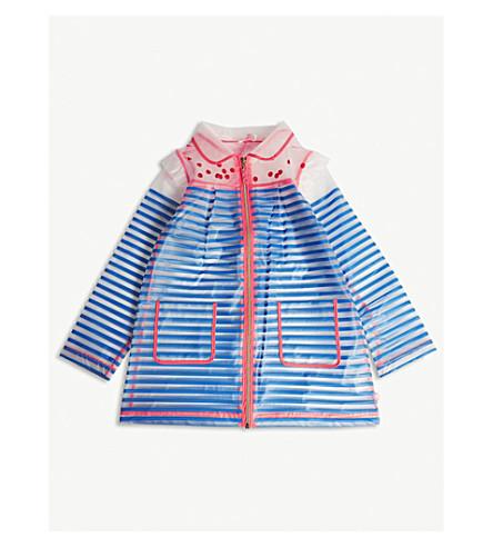 BILLIE BLUSH Striped transparent raincoat 4-12 years (Blue