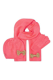 BILLIEBLUSH Bow hat scarf & glove set