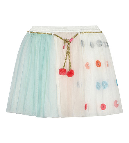 BILLIE BLUSH Pom pom tulle skirt & party pieces 4-12 years (Multi