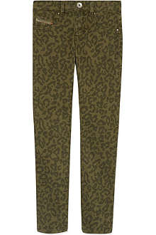 DIESEL Leopard print jeggings 4-16 years