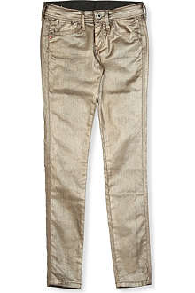 PEPE JEANS LONDON Metallic skinny jeans 4-16 years