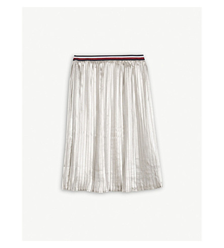 TOMMY HILFIGER Metallic pleated skirt 4-16 years (Silver