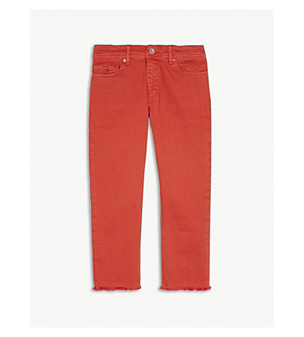 TOMMY HILFIGER Lana cropped jeans 4-16 years (Red