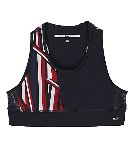TOMMY HILFIGER Striped performance crop top 6-16 years (Midnight