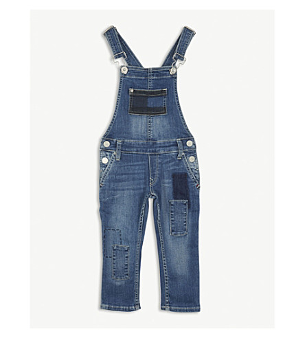 TOMMY HILFIGER Denim patch dungarees 4-16 years (Blue