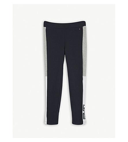 TOMMY HILFIGER Logo cotton-blend jogging bottoms 4-16 years (Blue