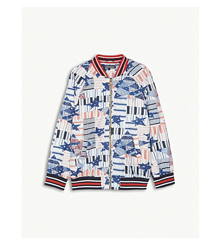 TOMMY HILFIGER Patchwork star bomber jacket (4-16 years) (Marshmellow