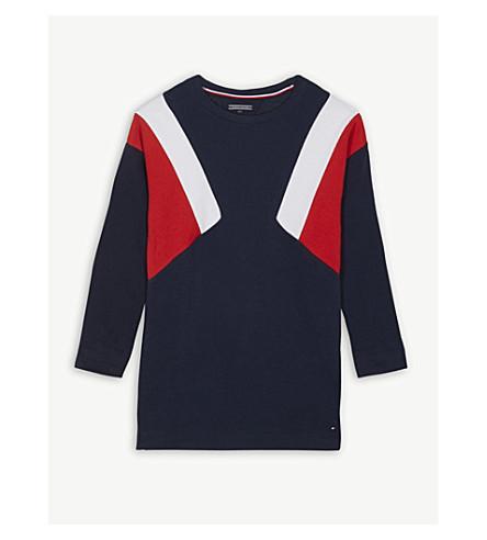 TOMMY HILFIGER Colour block cotton sweatshirt 4-16 years (Navy
