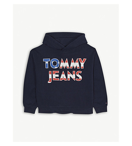 TOMMY HILFIGER Stars and stripes cotton hoody 4-16 years (Navy