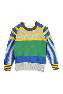 STELLA MCCARTNEY Wyatt colour-block knitted jumper 3-14 years