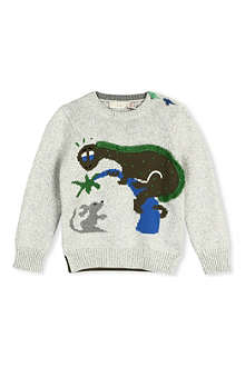 STELLA MCCARTNEY Knitted Dino jumper 3-14 years