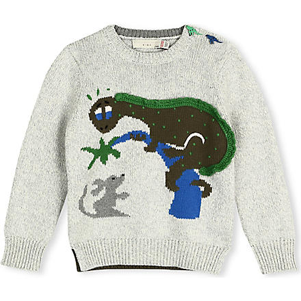 STELLA MCCARTNEY Knitted Dino jumper 3-14 years (Grey