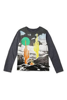 STELLA MCCARTNEY Barley Landscape long-sleeved top 3-14 years
