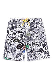STELLA MCCARTNEY Taylor comic-print swim trunks 3-14 years
