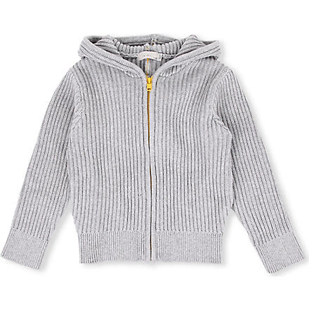 STELLA MCCARTNEY Spike knitted hoody 3-14 years (Grey