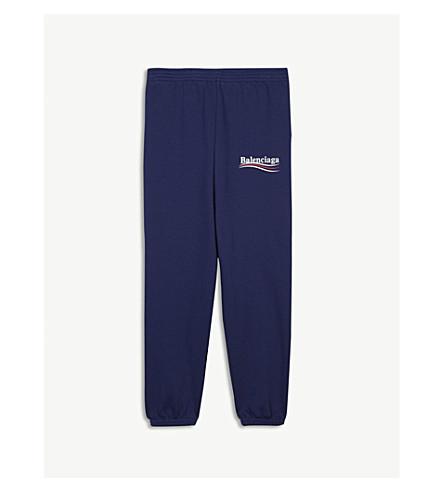 BALENCIAGA Brand logo print cotton-blend jogging bottoms 2-10 years (Blue