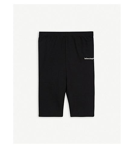 BALENCIAGA Logo cotton-blend shorts 2-10 years (Black