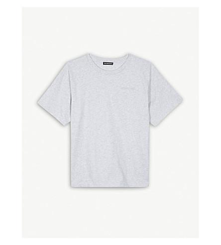 BALENCIAGA 同色系标志棉 T 恤 4-10 岁 (苍白 + 石楠 + 灰色