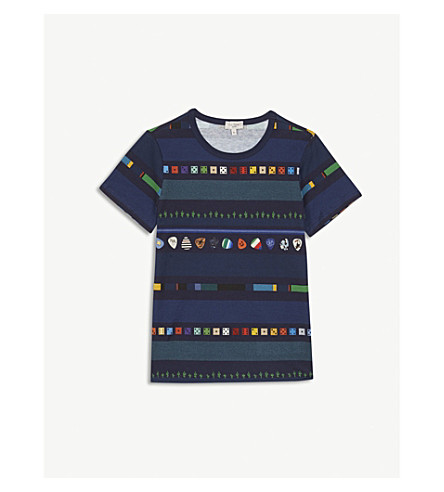 PAUL SMITH JUNIOR Riddle printed cotton T-shirt 4-16 years (Navy