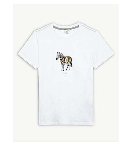 PAUL SMITH JUNIOR Zebra cotton T-shirt 4-16 years (Maze+yellow