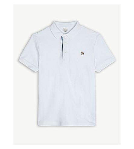 PAUL SMITH JUNIOR Ridley zebra cotton polo shirt 4-16 years (White
