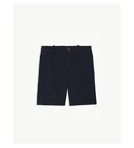 PAUL SMITH JUNIOR Stretch cotton chino shorts 4-16 years (Navy