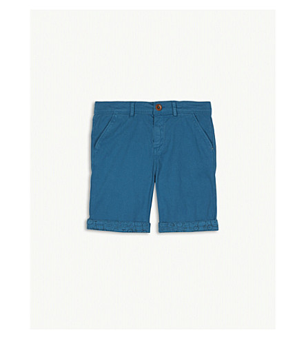 PAUL SMITH JUNIOR Bicycle print chino shorts 4-16 years (Sea+blue