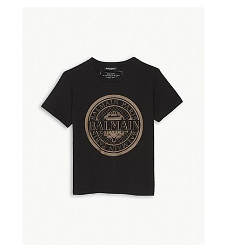 BALMAIN Circle logo cotton T-shirt 6-14 years (Black